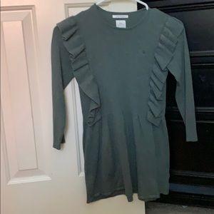 Green knitwear dress